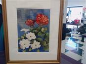 BRENDA BICKERSTAFF STANLEY Painting WATERCOLOR 18X22 FRAMED AND MATTED SUMMER FL